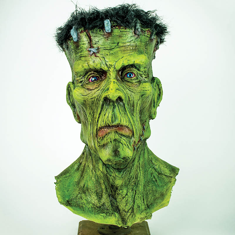Evilusions, Frankenstein, monster, actor mask, prop, Haunted house, classic horror, Halloween